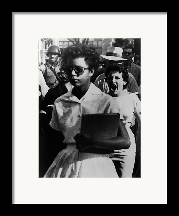 History Framed Print featuring the photograph Elizabeth Eckford, One Of The Nine by Everett
