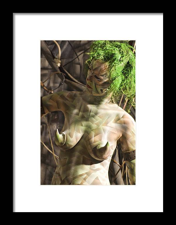 Body Paint Framed Print featuring the painting Ellenor Robot by Leigh Odom