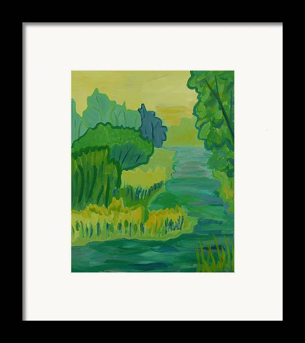 River Framed Print featuring the painting Ellis River by Debra Bretton Robinson