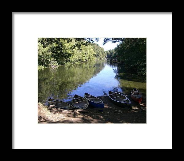 Boats Framed Print featuring the photograph Elm Bank - Boats by Nancy Ferrier