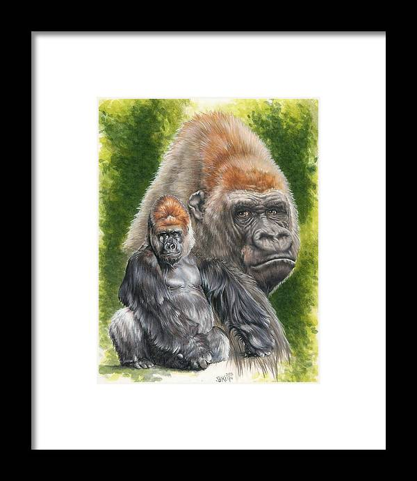 Gorilla Framed Print featuring the mixed media Eloquent by Barbara Keith