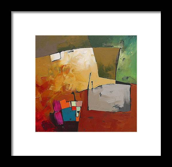 Original Framed Print featuring the painting Elusive by Linda Monfort