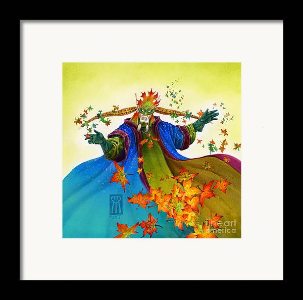 Elf Framed Print featuring the painting Elven Mage by Melissa A Benson