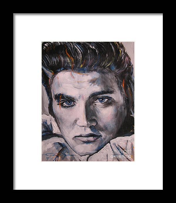 Elvis Presley Framed Print featuring the painting Elvis 2 by Eric Dee