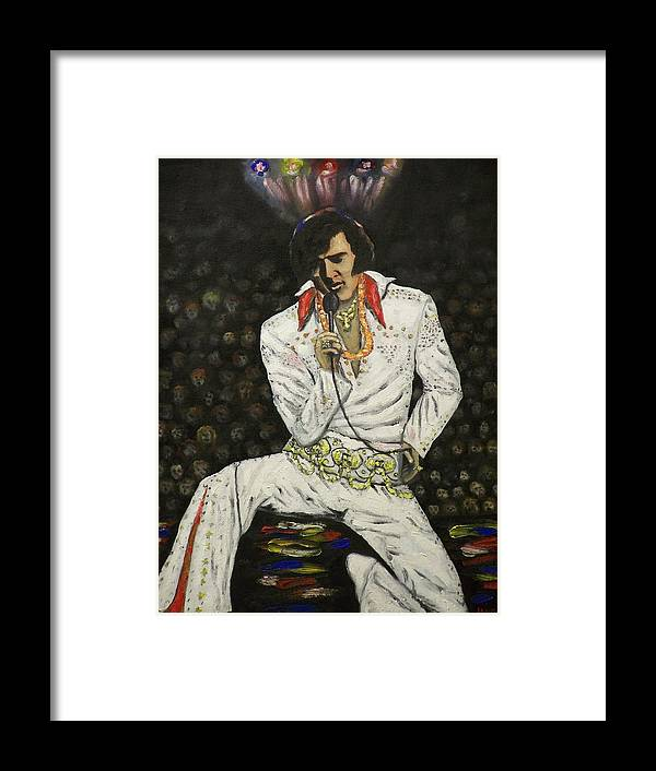 People Framed Print featuring the painting Elvis by Charles Vaughn