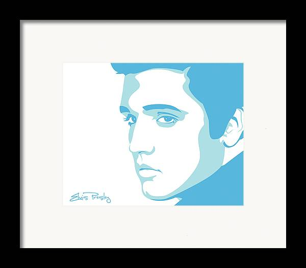 Rock And Roll Framed Print featuring the digital art Elvis by Mike Maher