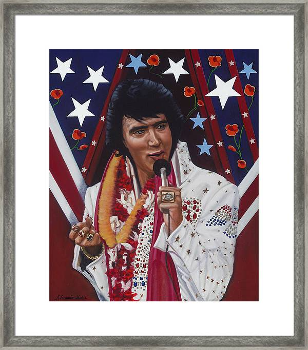 ELVIS PRESLEY HAWAI PHOTO PICTURE PRINT ON FRAMED CANVAS WALL ART  DECORATION