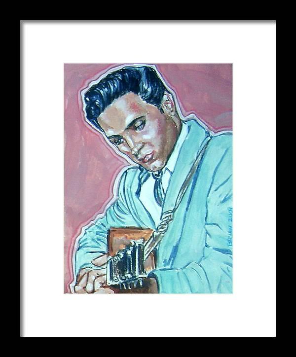 Elvis Presley Framed Print featuring the painting Elvis Presley by Bryan Bustard