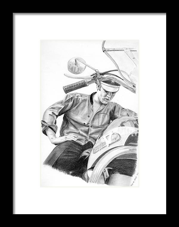 Singer Framed Print featuring the drawing Elvis Presley by Rob De Vries