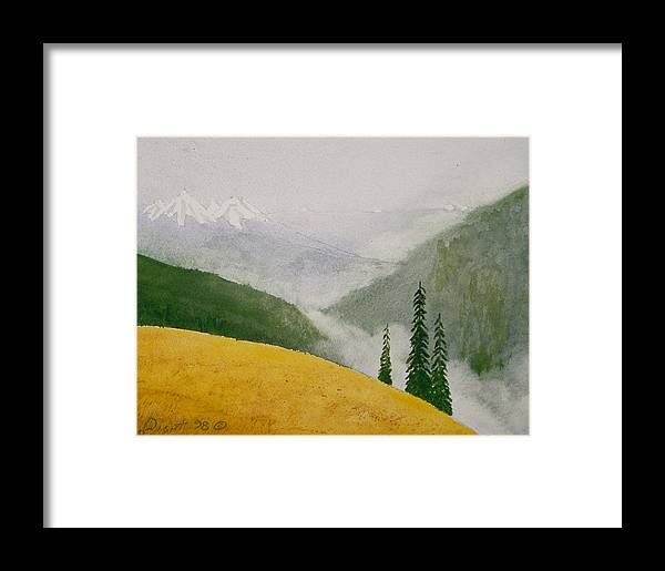 Landscape Framed Print featuring the painting Elwa Mist by Buster Dight