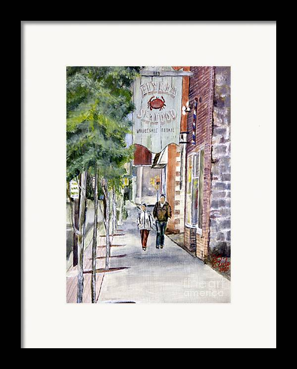 Ohio Framed Print featuring the painting Elyria Seafood by CJ Rider