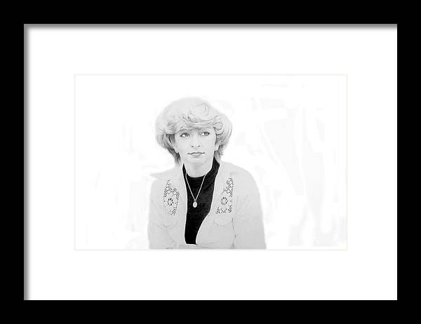 Portrait Framed Print featuring the drawing Emanuela by Conrad Mieschke