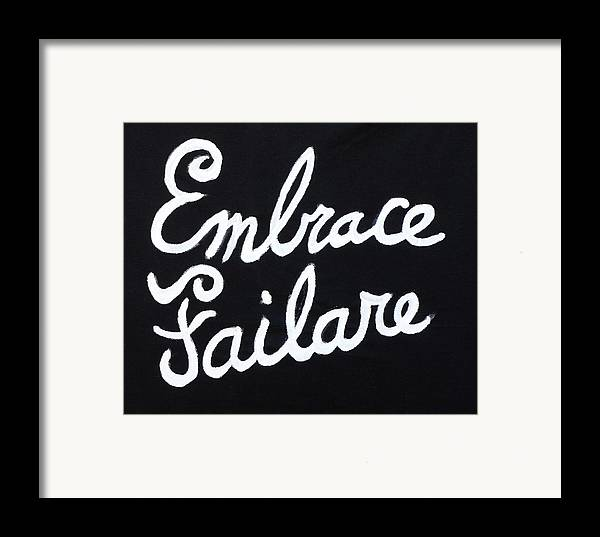Failure Framed Print featuring the painting Embrace Failare by John Kilduff
