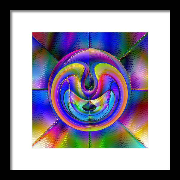 Abstract Framed Print featuring the digital art Embrio by Carl Perry
