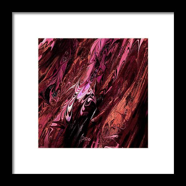Abstract Framed Print featuring the digital art Embryos by Rachel Christine Nowicki