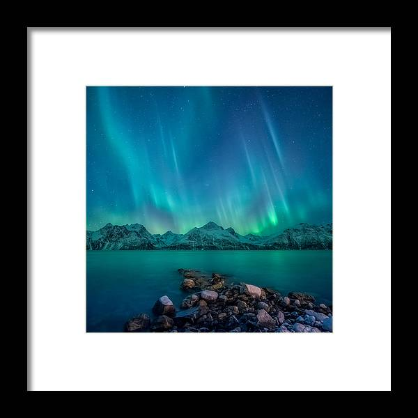 Emerald Framed Print featuring the photograph Emerald Sky by Tor-Ivar Naess