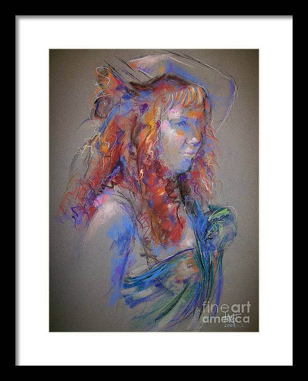 Figurative Framed Print featuring the painting Emerald by Tina Siddiqui