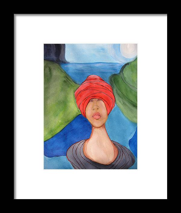 Water Framed Print featuring the painting Emergence by Lindie Racz