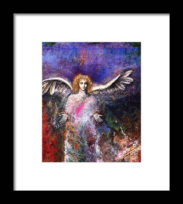 Angel Framed Print featuring the painting Emergence by Marne Adler