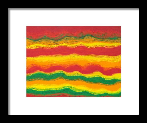 Abstract Framed Print featuring the painting Emergence No. 1 by Elizabeth Dawson