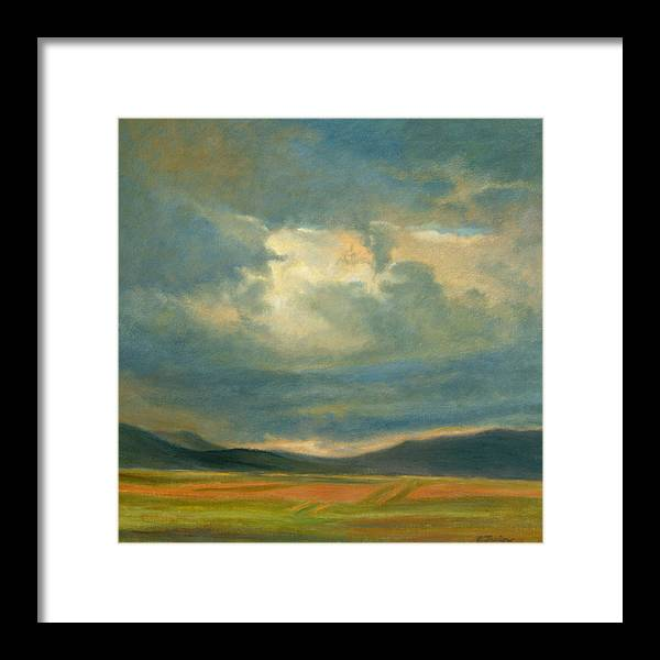 Southwest Framed Print featuring the painting Emergence by Phyllis Tarlow