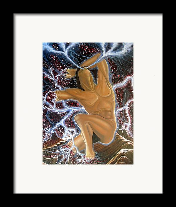 Creation Framed Print featuring the painting Emergence by Rick Mittelstedt