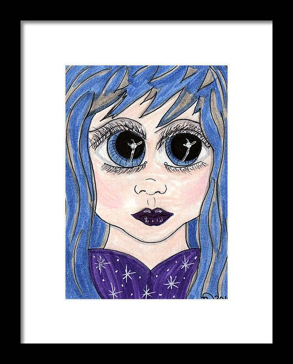 Emo Framed Print featuring the painting Emo Girl I by Tambra Wilcox