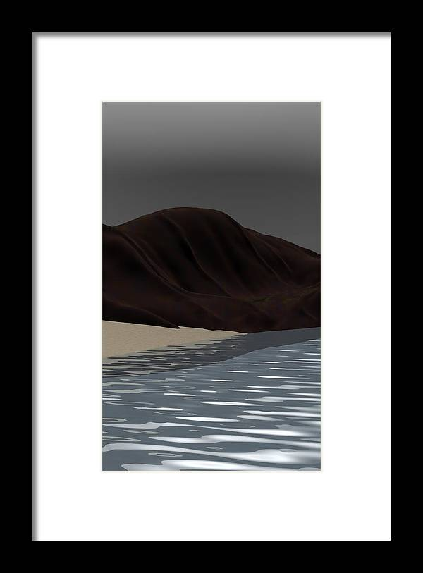 Abstract Framed Print featuring the digital art Emotion by David Lane