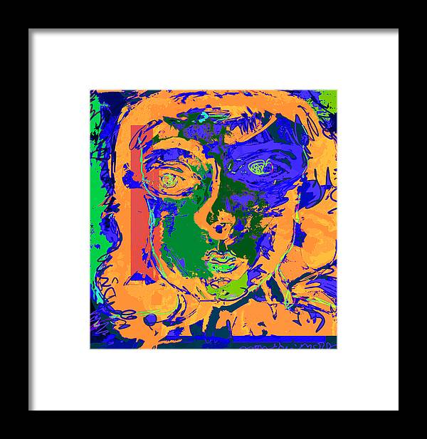 Color Framed Print featuring the painting Emotional Appeal by Noredin Morgan