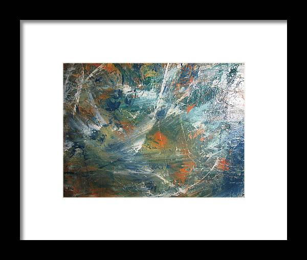 Non Duality Framed Print featuring the painting Emotional Deluge by Paula Andrea Pyle