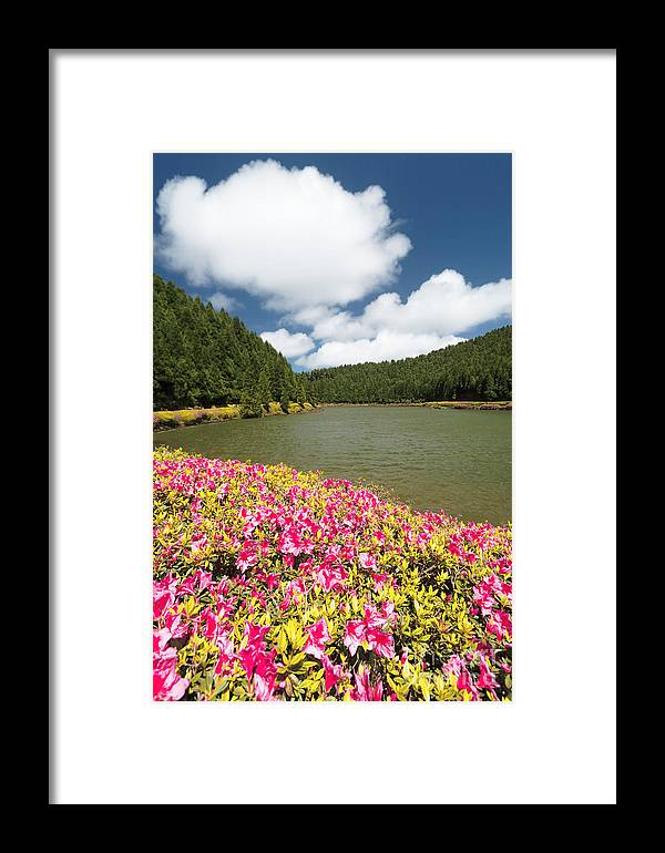 Portugal Framed Print featuring the photograph Empadadas Lakes II by Gaspar Avila