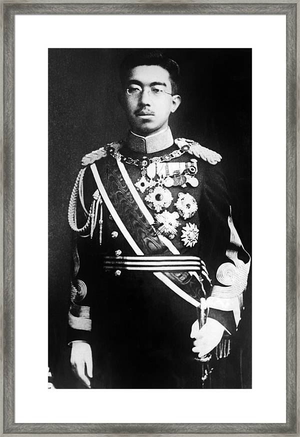 Emperor Hirohito Of Japan Portrait Framed Print By Everett