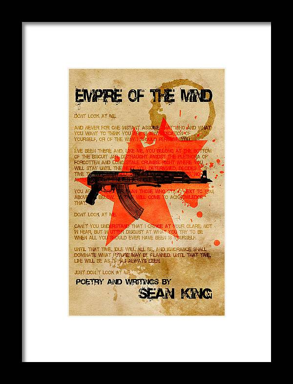 Book Framed Print featuring the digital art Empire Of The Mind by Sean King