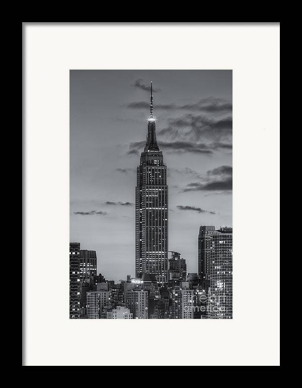 Clarence Holmes Framed Print featuring the photograph Empire State Building Morning Twilight Iv by Clarence Holmes