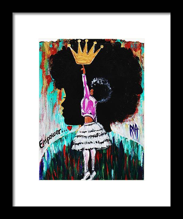 Artbyria Framed Print featuring the photograph Empower by Artist RiA