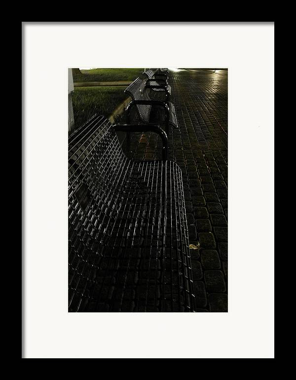 Night Framed Print featuring the photograph Empty by Carl Perry