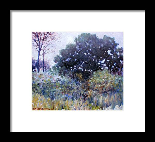 Landscape Framed Print featuring the painting Empty Lot by Kevin Lawrence Leveque
