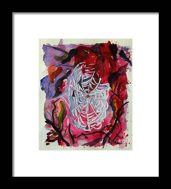 Abstract Framed Print featuring the painting Empty Nest by Stephanie Allison