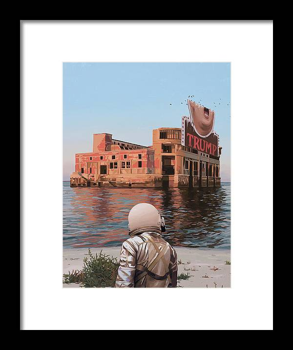 Astronaut Framed Print featuring the painting Empty Palace by Scott Listfield