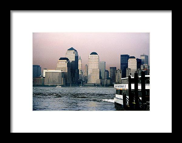 New York Framed Print featuring the photograph Empty Sky by Steve Karol