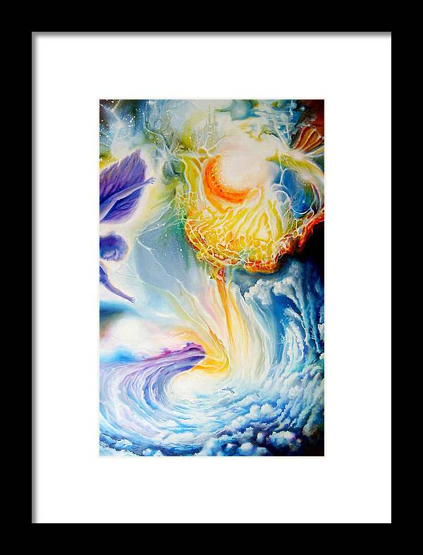 Cosmic Framed Print featuring the painting En Route To A Celebration by Leonard Aitken