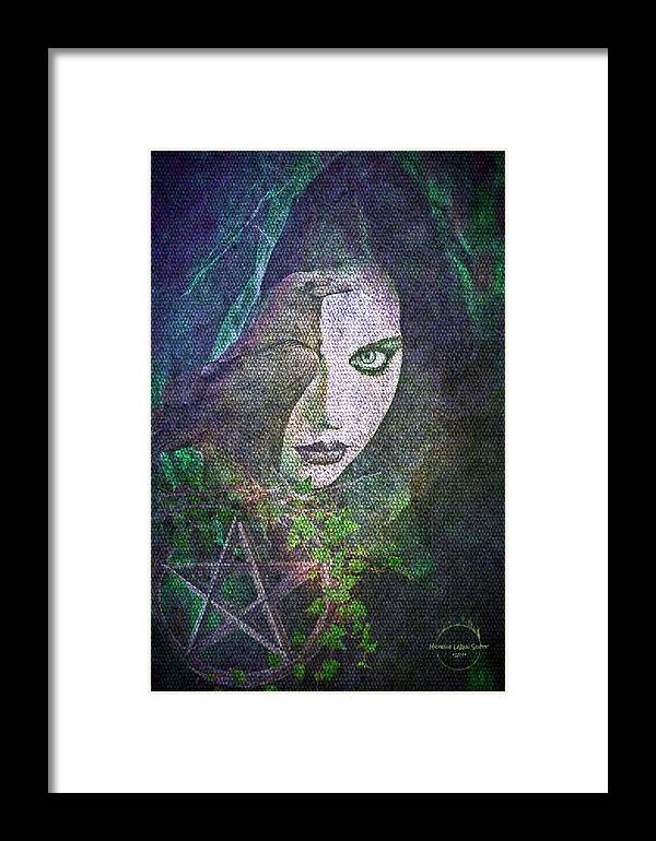 Enchanted Framed Print featuring the digital art Enchanted by Absinthe Art By Michelle LeAnn Scott