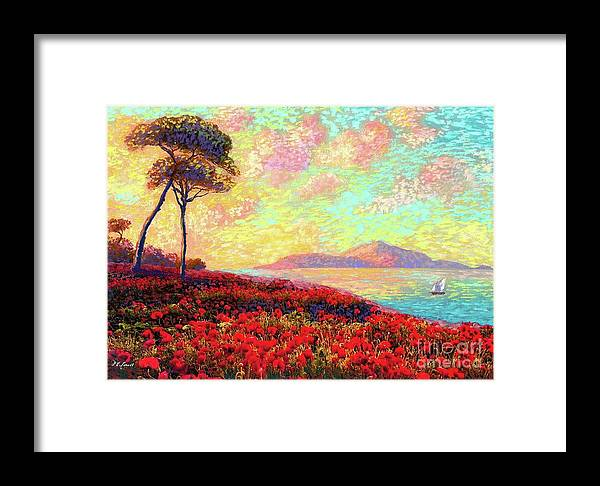 Wildflower Framed Print featuring the painting Enchanted By Poppies by Jane Small