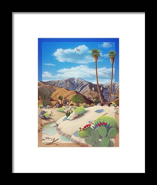 Desert Framed Print featuring the painting Enchanted Desert by Snake Jagger