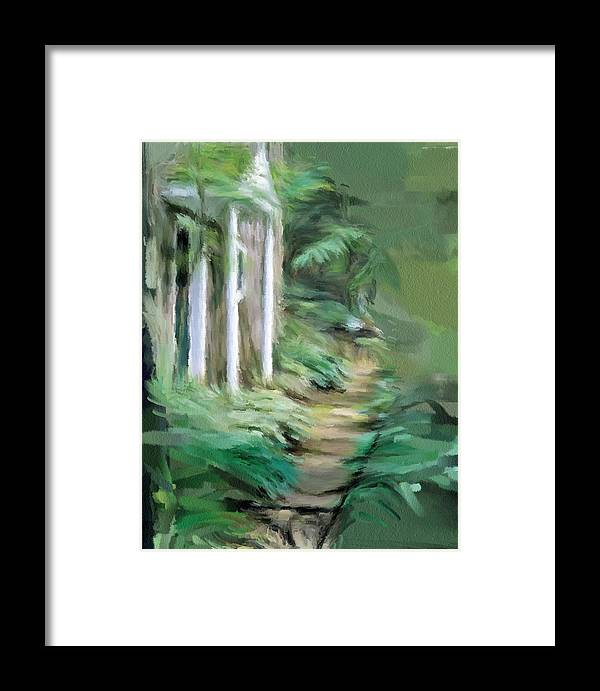 Enchanted Framed Print featuring the painting Enchanted English Folly by Phil Ward