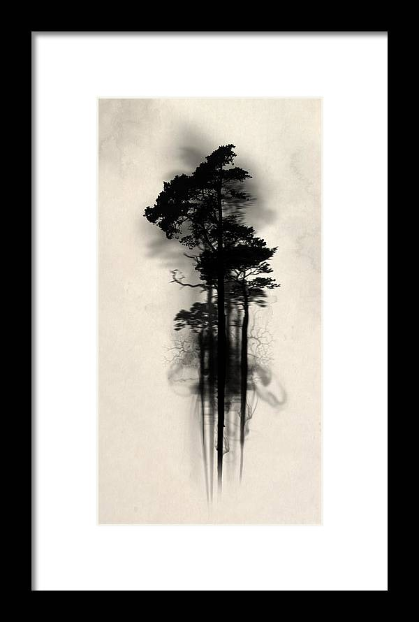 Forest Framed Print featuring the painting Enchanted Forest by Nicklas Gustafsson