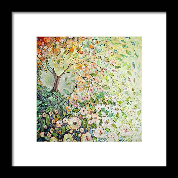 Tree Framed Print featuring the painting Enchanted by Jennifer Lommers