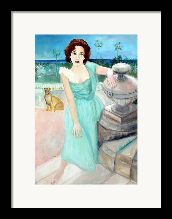 Portrait Framed Print featuring the painting Enchanted by Michela Akers