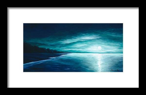 Moonscape Framed Print featuring the painting Enchanted Moon I by James Christopher Hill