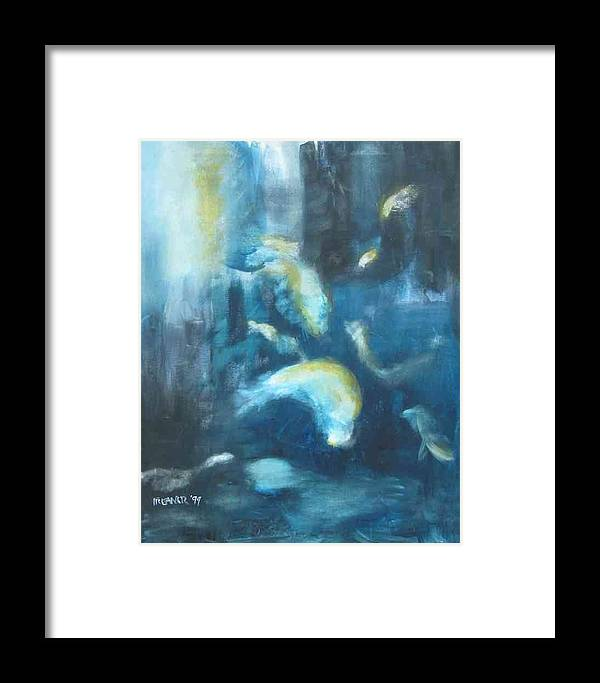 Ocean Framed Print featuring the painting Enchanted Sea by Halle Treanor